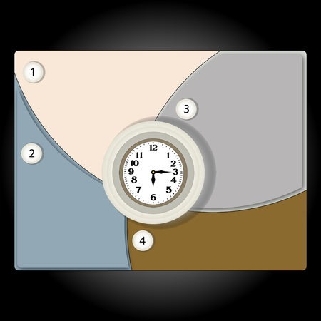 banner clock can be used as a schedule or infographics Vector