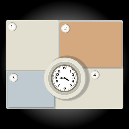 banner clock can be used as a schedule or infographics