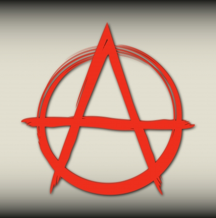 the sign of anarchy bloody color on the dirty background Vector