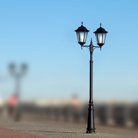street lamp on a blurred background photo