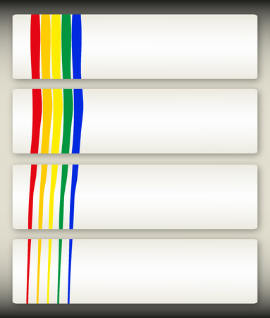 Set of four abstract banners in the same style