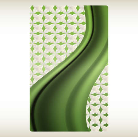 plastic card: wavy abstract background for plastic card Illustration