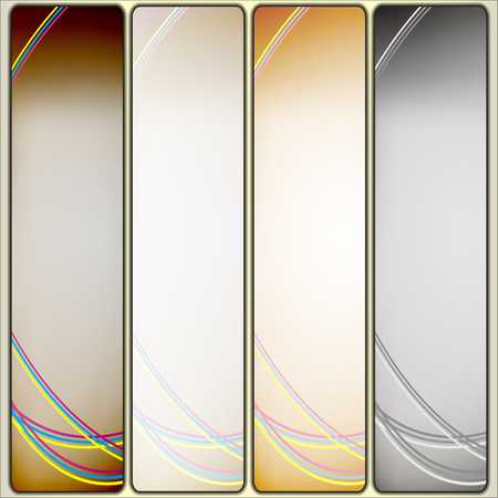Set of abstract background banner