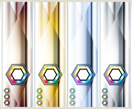 Set of abstract background banner Vector