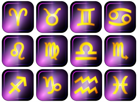 set of zodiac signs Vector