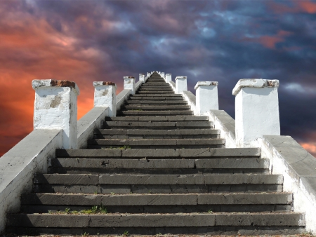 the endless staircase goes to heaven photo