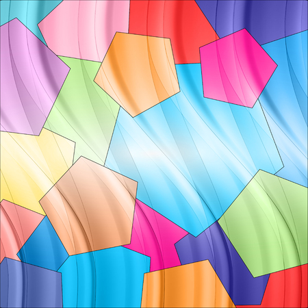 colorful abstract background with elements similar to the balloons Vector