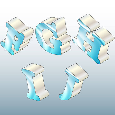 colored letters of the alphabet Vector