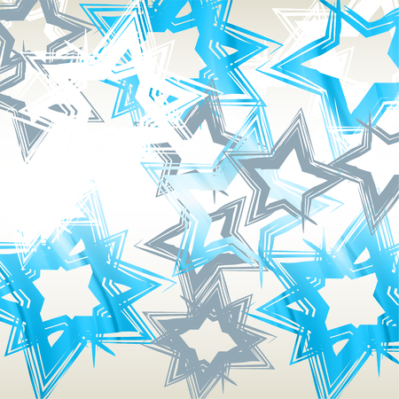 abstract background with stars of different colors Vector