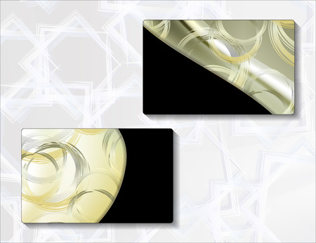 plastic card: template for plastic card with abstract design Illustration
