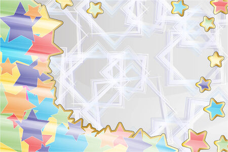 abstract with stars of different colors Stock Vector - 24604190