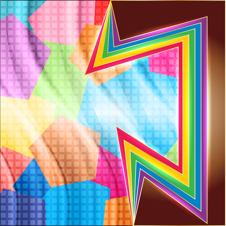 inserts: abstract background rainbow colored inserts