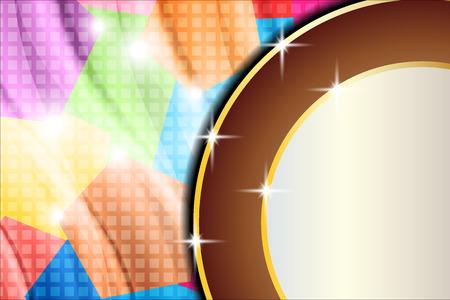 iridescent: background iridescent circles Illustration