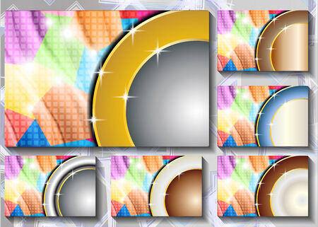 a set of abstract backgrounds with circles