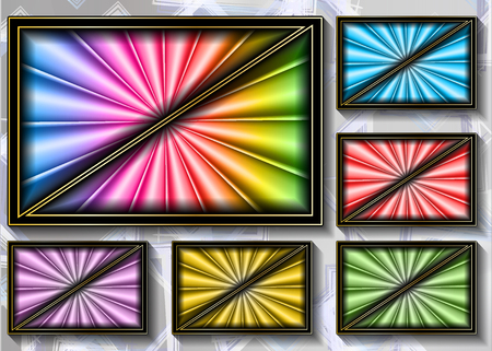 a set of colored backgrounds