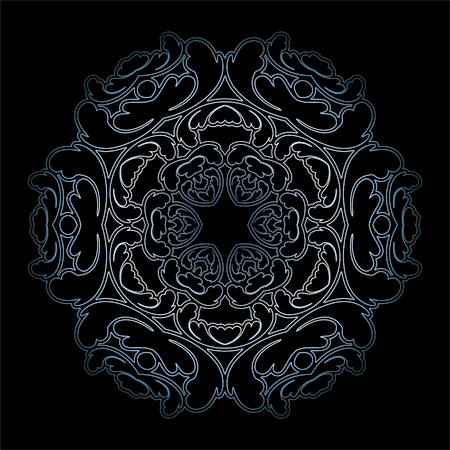 blue snowflake on black background