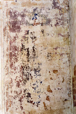 Painting of the walls of an abandoned Orthodox church, Nasakino village, Kostroma region, Russia. Date of construction 1824. Currently the village does not exist the church is abandoned