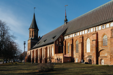 Side of the Konigsberg Cathedral in Kaliningrad.