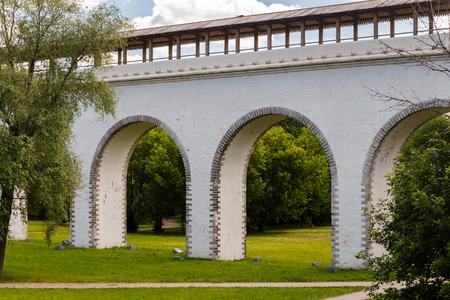 aqueduct: old landmark in Moscow, Russia - Rostokino Aqueduct. Stock Photo