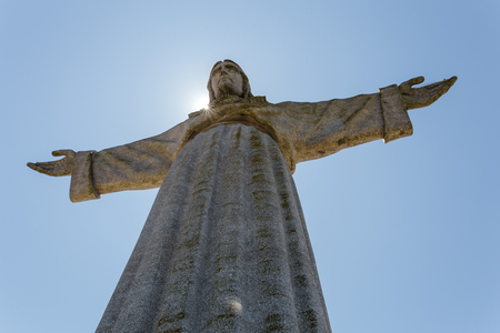 Christ the King in the sun in portugal.