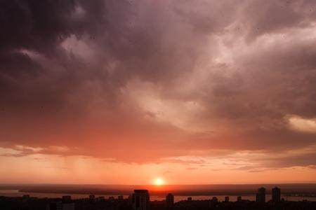 anomalies: Weather anomalies: a mad sunset after rain.