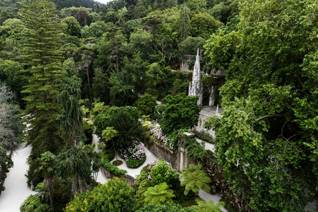 quinta: Quinta da Regaleira, one of several well-known parks in the city of Sintra