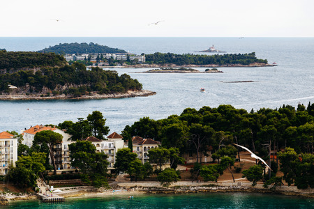 katarina: The view from the Church of St. Euphemia on Island of Sveti Ivan, Katarina island and Crveni Otok