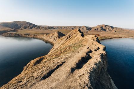 The ridge of Cape Chameleon in Crimea. Reklamní fotografie