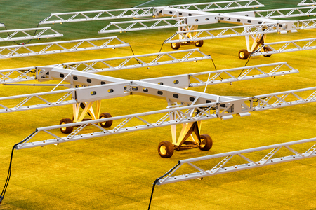 Artificial light system for growing lawns on football stadiums.