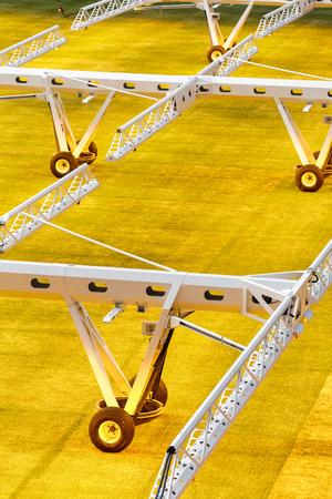 Artificial light system for growing lawns on football stadiums. Reklamní fotografie - 106224143