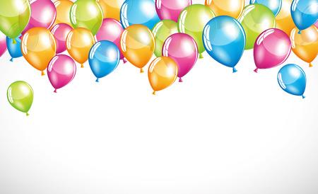 balloon background: Happy balloons
