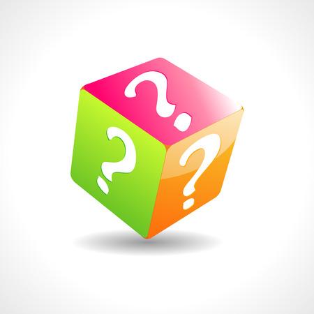 unexplained: Question cube