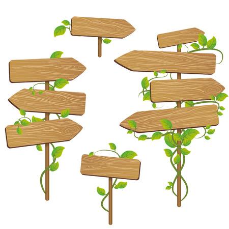 wood signs  イラスト・ベクター素材