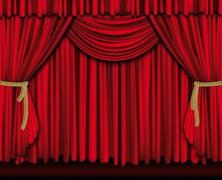 intermission: Red theater curtain