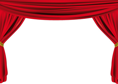 cortinas: Red cortina  Vectores