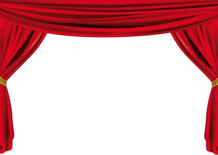 cortinas rojas: Red cortina  Vectores