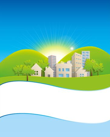 urban planning: Nature background Illustration