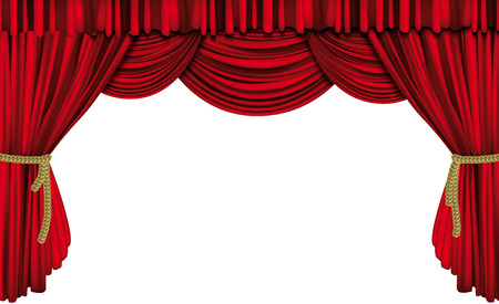 at the theater: Red curtain