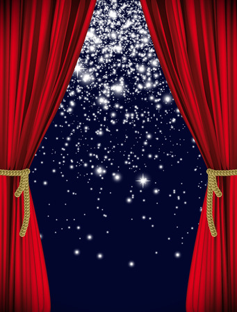 Full vector art theater curtain background theme
