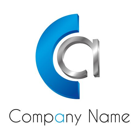 logo marketing: Full customizable letter vector logo theme for company Illustration