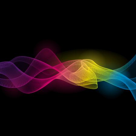 Thème de la couleur de fond l'art de vecteur d'onde complet Banque d'images - 44250803