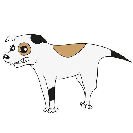 jack russell: Vector cartoon of dog domestic animals theme Illustration