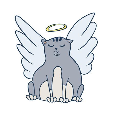 domestic animals: Vector cartoon theme of domestic animals cat Illustration