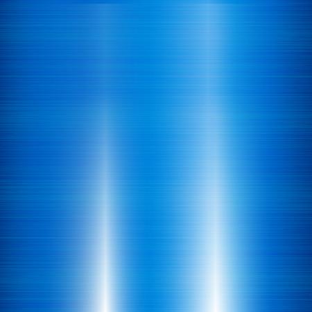 brushed aluminum: Blue metal background Illustration
