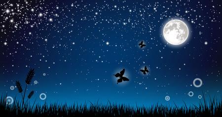 Arrière-plan de nuit Banque d'images - 44639337