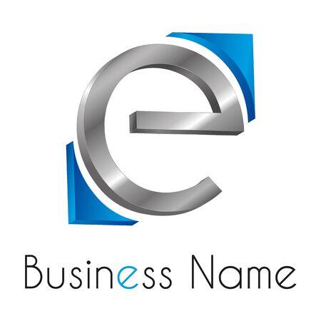 metal letters: Logo letter E