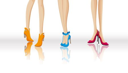 fashion shoes: Fashion shoes Illustration