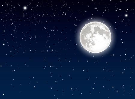 Mond und Himmel Hintergrund Standard-Bild - 44734639