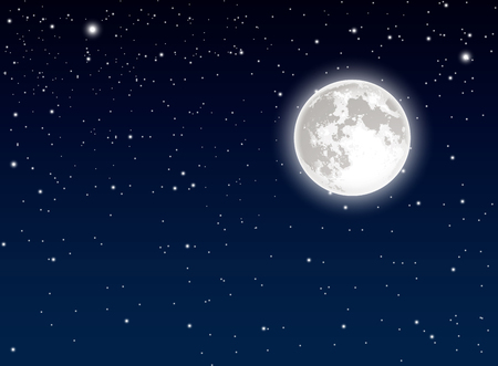 sky background: Moon and sky background Illustration