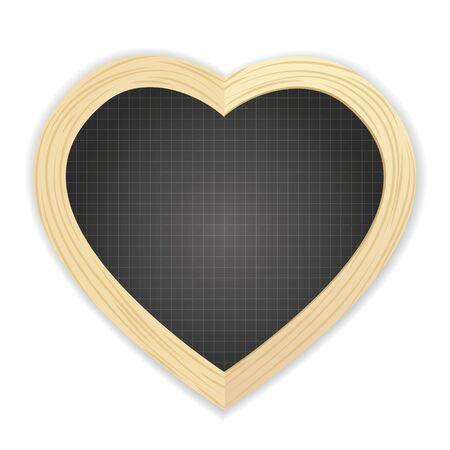 slate: Heart shapped slate Illustration